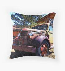 Vintage Heavy Duty Truck 1930's Throw Pillow