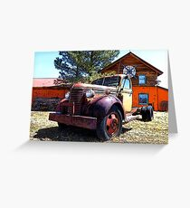 Vintage Heavy Duty Truck 1930's Greeting Card