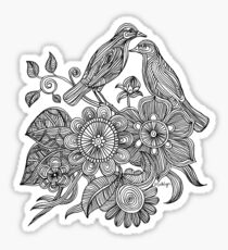 Bird Doodle - Work in Progress Sticker