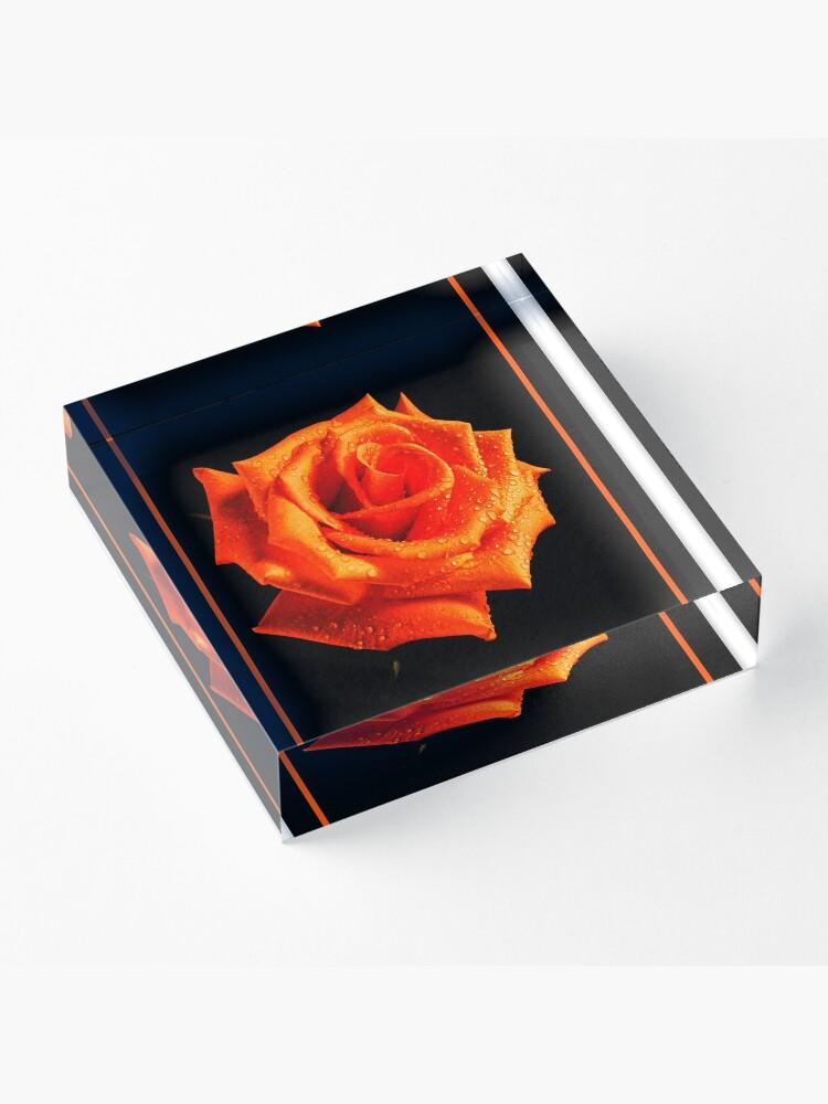 Alternate view of Orange Delight Acrylic Block