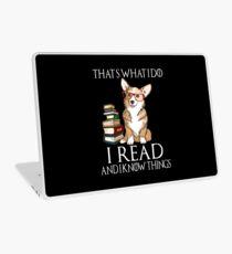 Corgi für Buchliebhaber, Buch-Nerds, Leser oder Englischlehrer Laptop Folie
