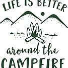 Life is Better Around the Campfire by redwoodandvine