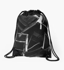 a flock of chairs Drawstring Bag