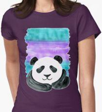 Lazy Panda on Mint & Violet T-Shirt