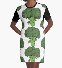 I Love Broccoli Graphic T-Shirt Dress
