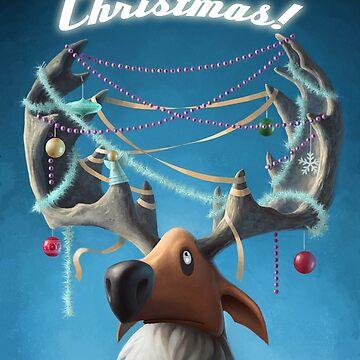 Christmas Reindeer  by burningsky