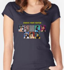 Classic Mortal Kombat - Select Fighters - Video Game (Retro) Women's Fitted Scoop T-Shirt