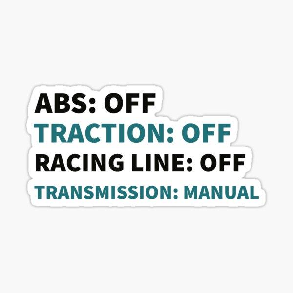 Sim Racing Difficulty Shirt Sticker