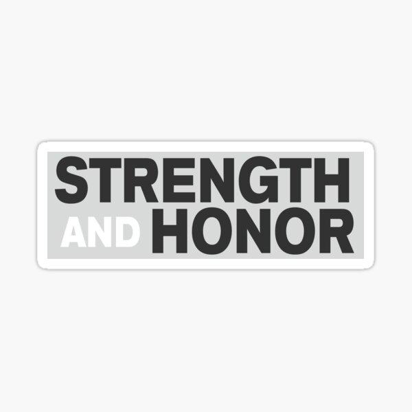 Pegatina para el parachoques del gladiador - fuerza y honor Pegatina