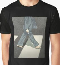 Walking Paul barefoot on the zebra Crossing Graphic T-Shirt