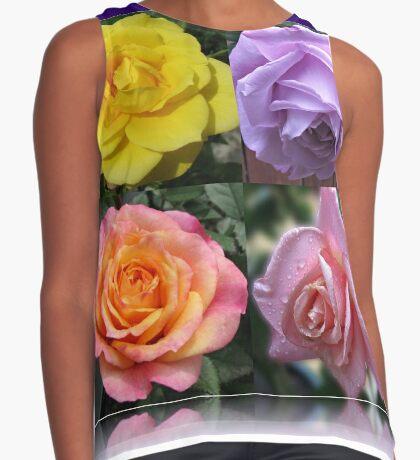 Collage mit vier Rosen Ärmelloses Top