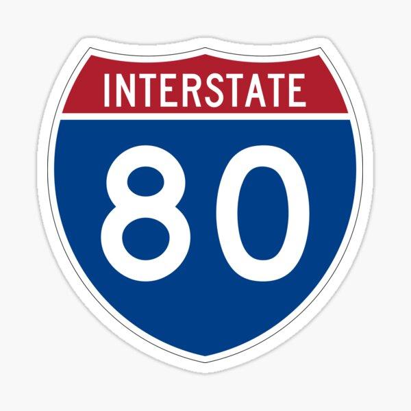 Interstate 80 Sticker