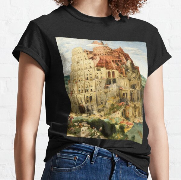 HD. The (Great) Tower of Babel, by Pieter Bruegel the Elder. HIGH DEFINITION Classic T-Shirt