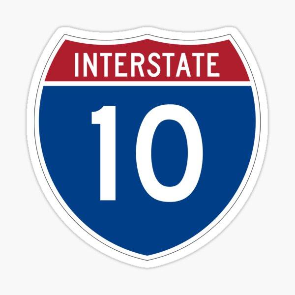 Interstate 10 Sticker
