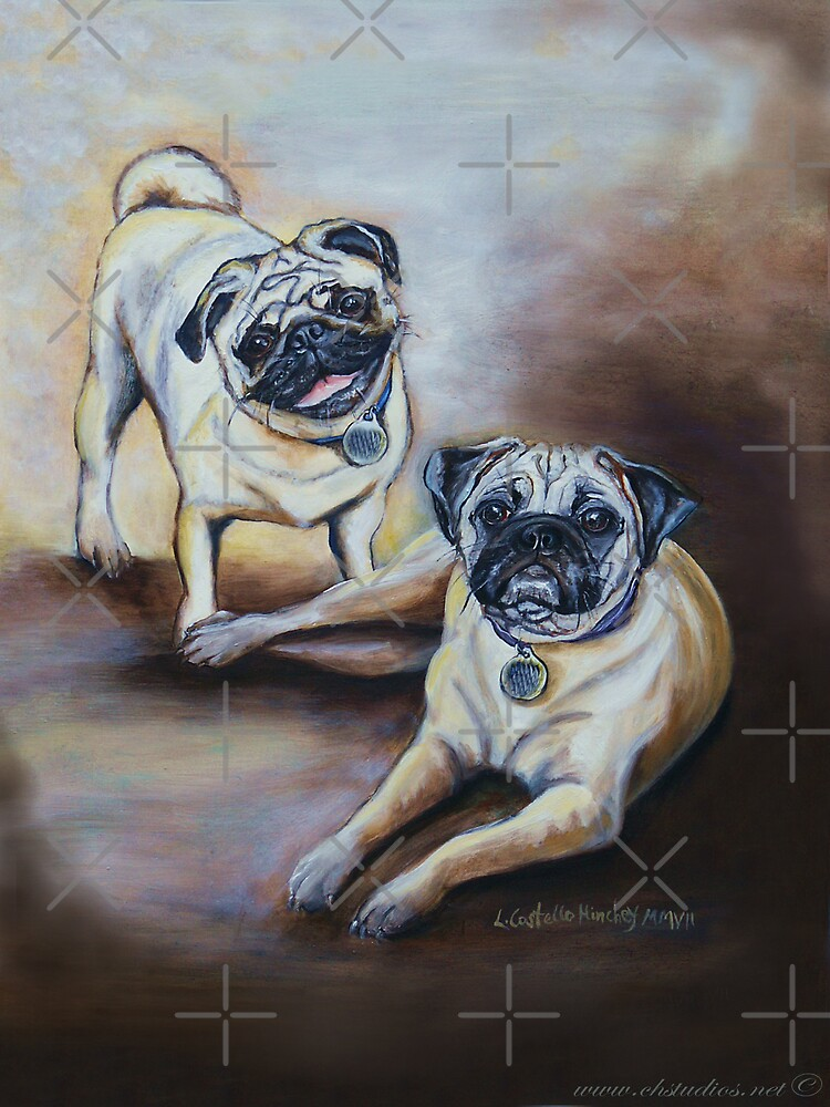 Pug Pair by Linda Costello Hinchey