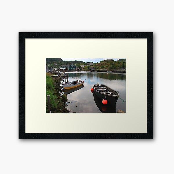 The Village Harbour Framed Art Print