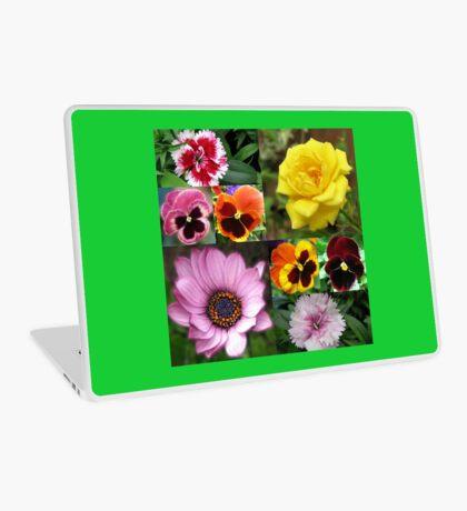 Sunkissed Summer Flowers Collage - ungerahmt Laptop Skin
