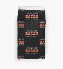 Funny Bacon Gift for Keto Lovers on Ketogenics Duvet Cover