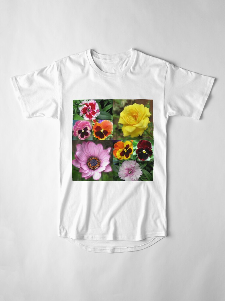 Alternative Ansicht von Sunkissed Summer Flowers Collage - ungerahmt Longshirt