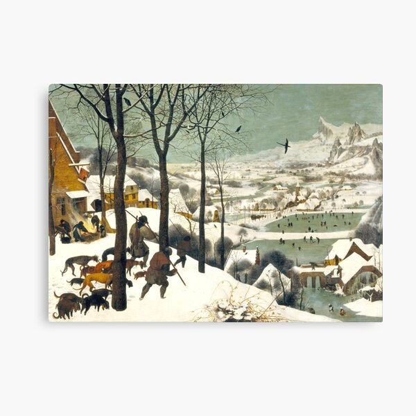 HD. The Hunters in the Snow, by Pieter Bruegel the Elder. HIGH DEFINITION Canvas Print