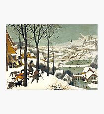 HD. The Hunters in the Snow, by Pieter Bruegel the Elder. HIGH DEFINITION Photographic Print