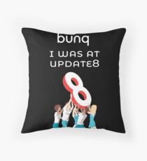 bunq - I was at update 8  Throw Pillow