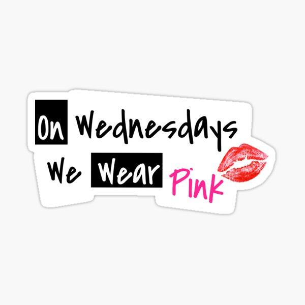 Vestimos rosa los miércoles Pegatina