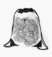 sliced clot Drawstring Bag