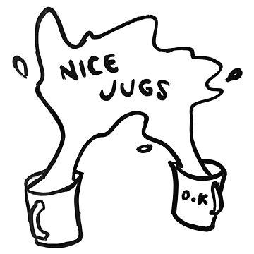 NICE JUGS sticker by strangerandfict
