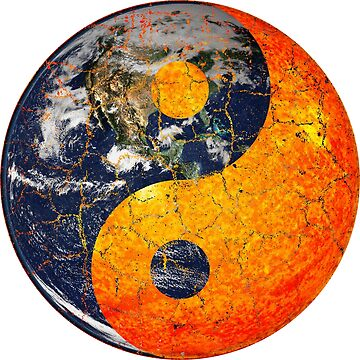 Earth and Sun Chinese Yin Yang Symbol by joehx