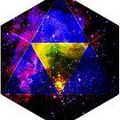 Purple Icosahedron Symbol in Space [Dark Version] by CurrentXChange