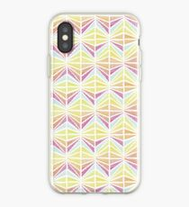 Bright Geometric Lines Pattern iPhone Case