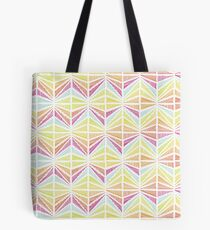 Bright Geometric Lines Pattern Tote Bag
