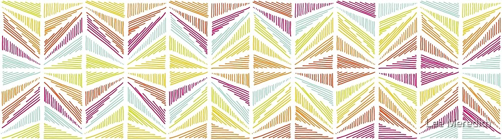 Bright Geometric Lines Pattern by Lee Meredith