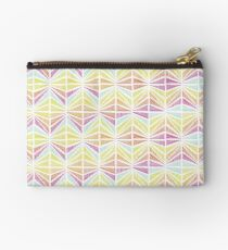 Bright Geometric Lines Pattern Studio Pouch