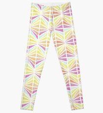 Bright Geometric Lines Pattern Leggings