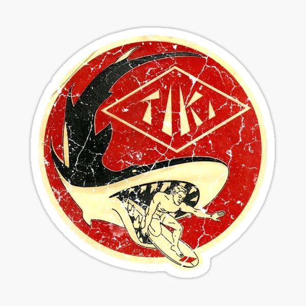 Tiki Shark Sticker