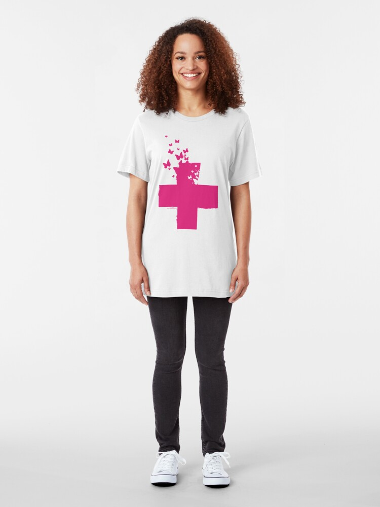 Alternate view of Rescue Pink /// Slim Fit T-Shirt