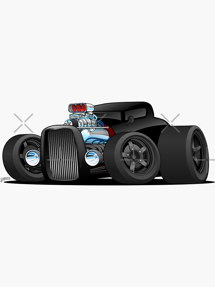 Custom Black Hot Rod Coupe by hobrath