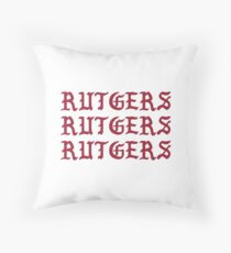 rutgers rutgers rutgers kanye Throw Pillow