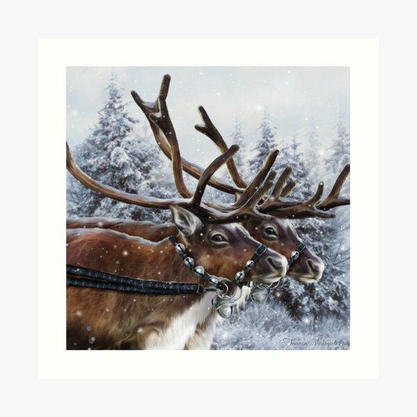 The Christmas Ride Art Print