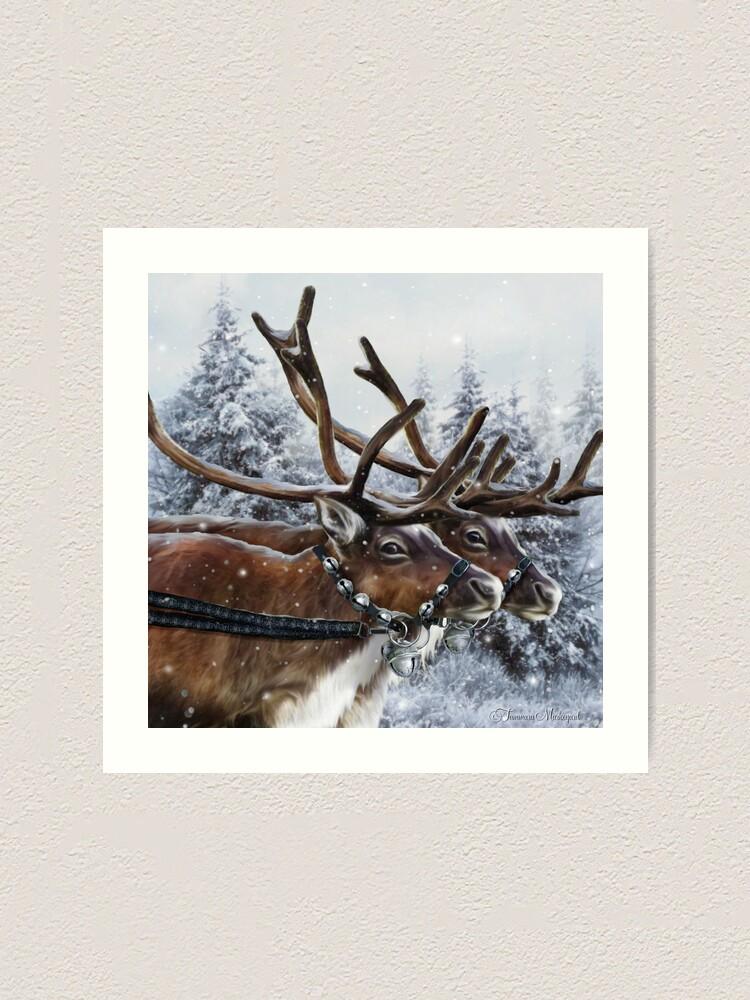 Alternate view of The Christmas Ride Art Print