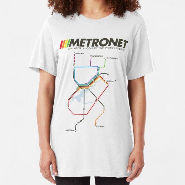 RETRO METRONET: 2013's plan Slim Fit T-Shirt