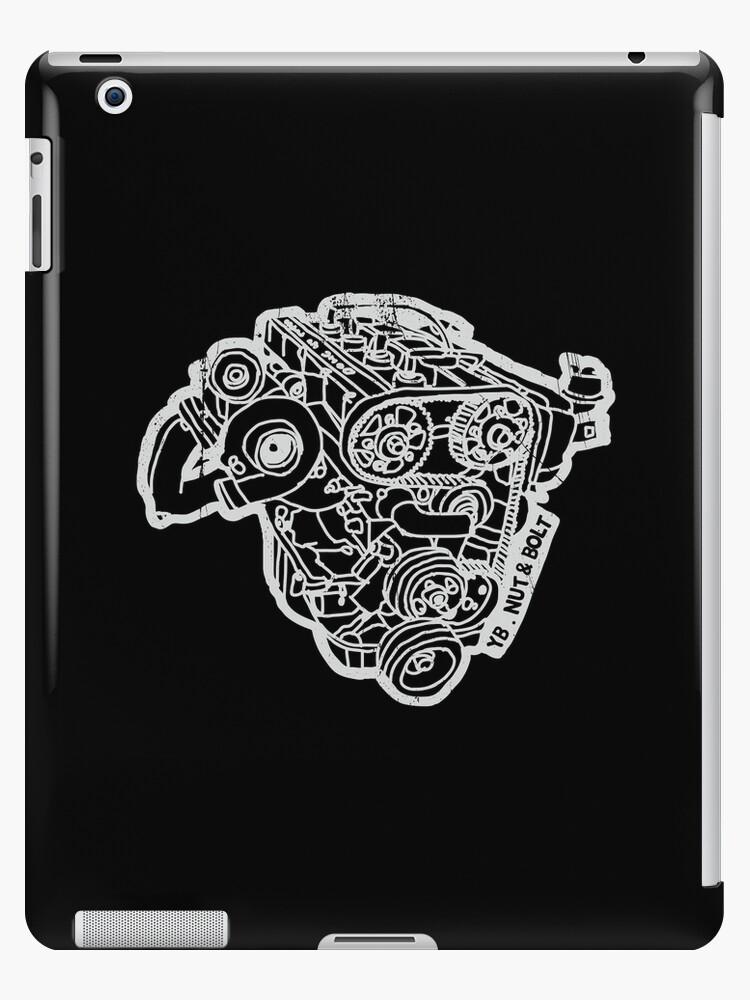 'Ford Sierra Cosworth YB Turbo Engine' iPad Case/Skin by Nut and Bolt Design