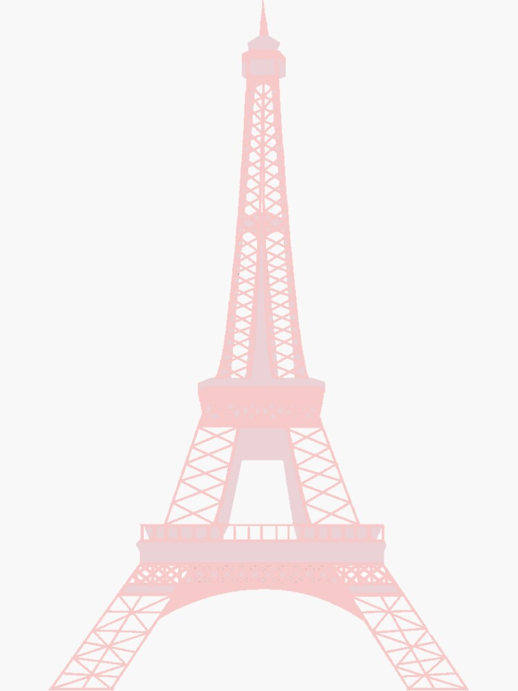 Millennial Pink Eiffel Tower by ramsinaaa