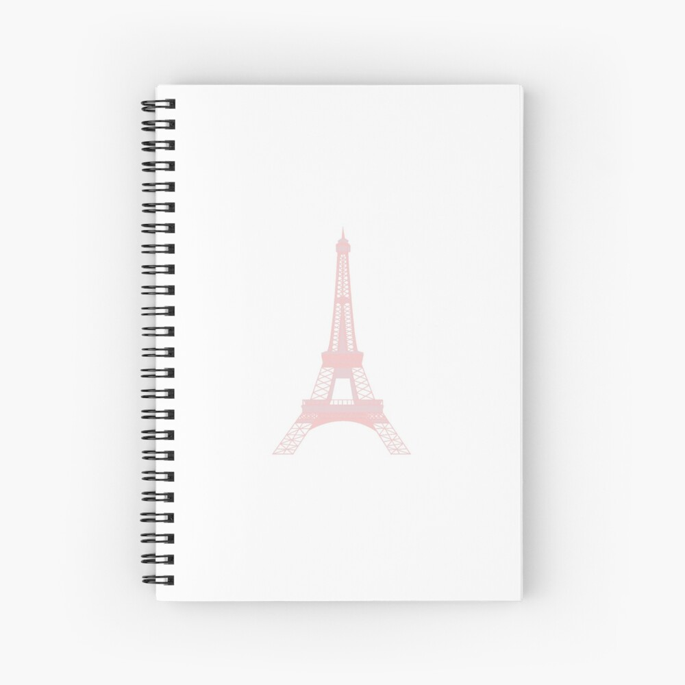 Millennial Pink Eiffel Tower Spiral Notebook