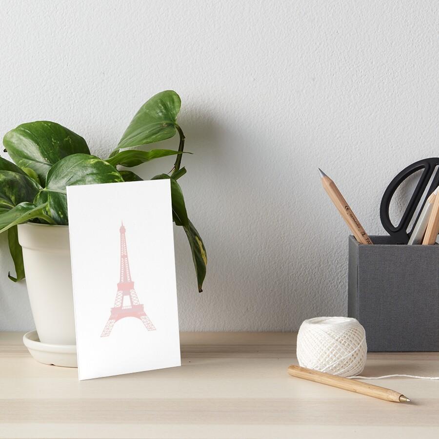 Millennial Pink Eiffel Tower Art Board Print