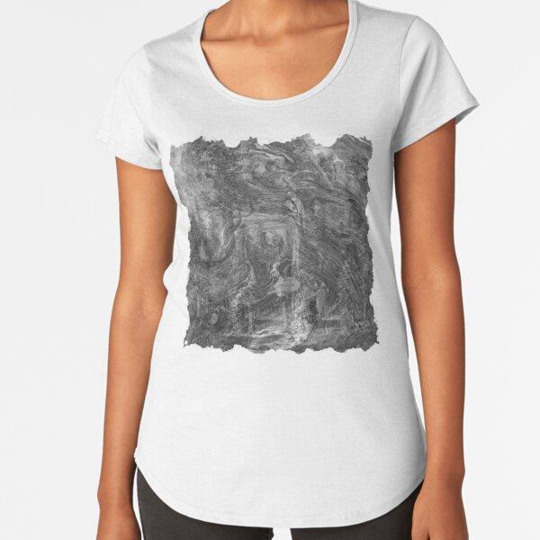 The Atlas of Dreams - Plate 30 (b&w) Premium Scoop T-Shirt