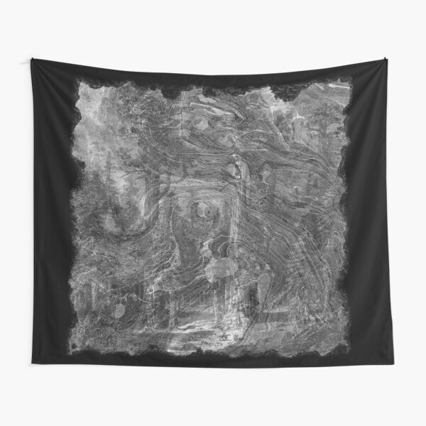 The Atlas of Dreams - Plate 30 (b&w) Tapestry