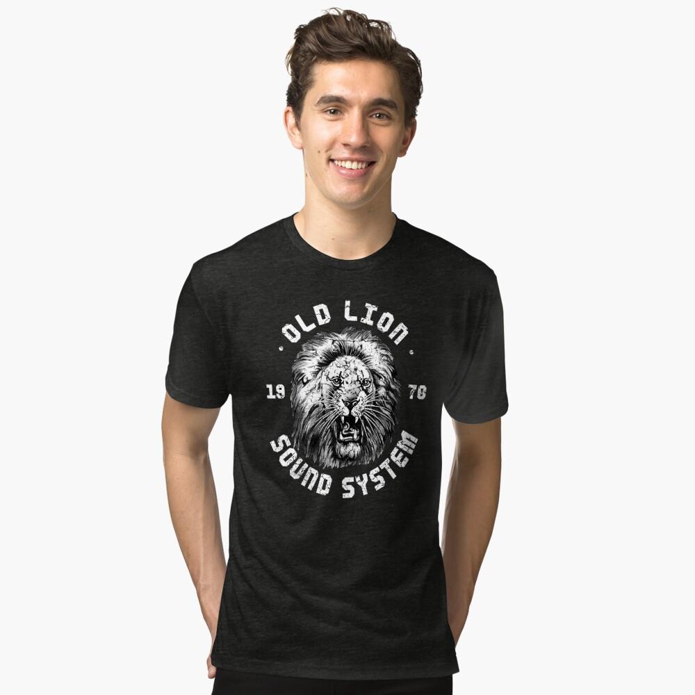 Old Lion Sound System (*WB) Tri-blend T-Shirt